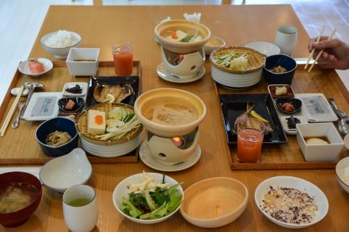 Le ryokan Mifuneyama Kanko Hotel à Takeo Onsen dans la prefecture de Saga avec le petit déjeuner