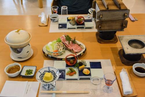 Le ryokan Mifuneyama Kanko Hotel à Takeo Onsen dans la prefecture de Saga avec le diner