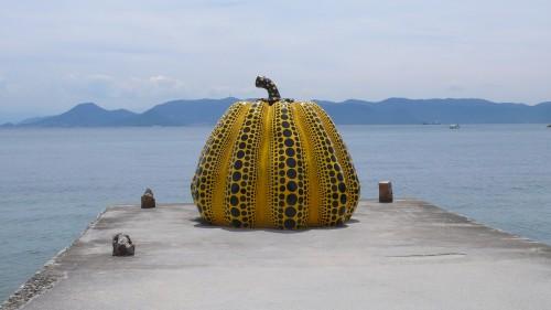 Naoshima, Yayoi Kusama, Pumpkin, Museum, Musée, Japon