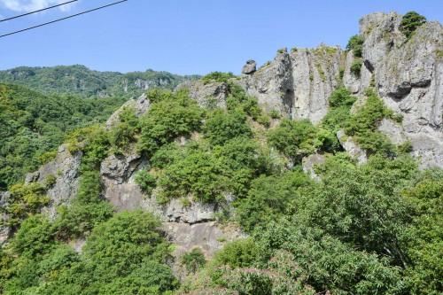 La vallée de Kanka-Kei sur l'île de Shodoshima dans la prefeture de Kagawa