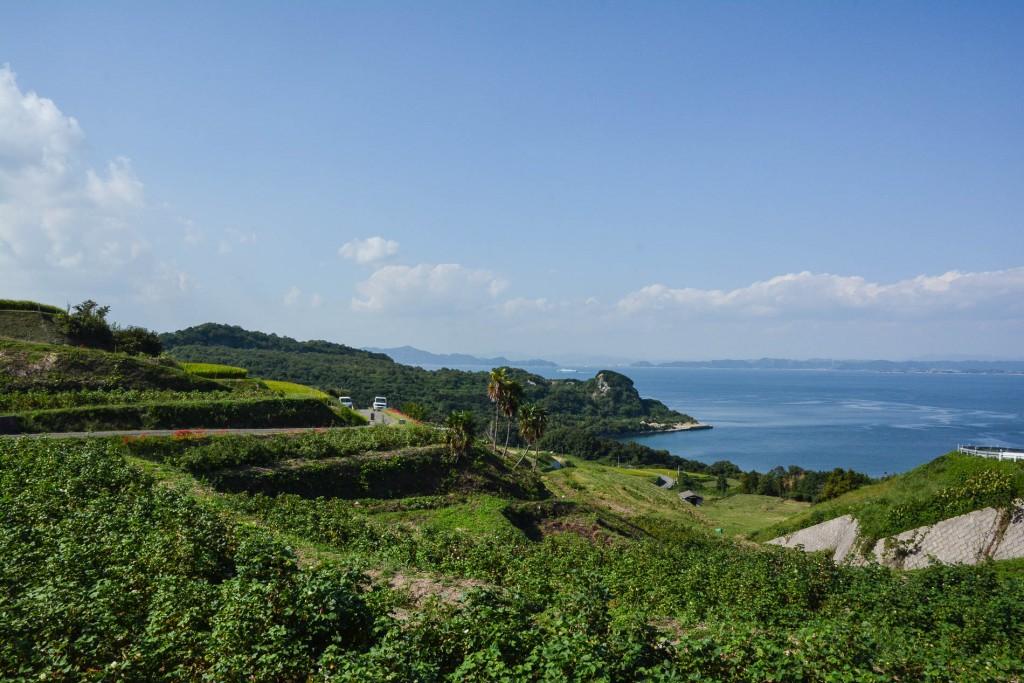 les paysages autour du Teshima Art Museum sur l'île de Teshima dans la Mer Intérieure de Seto