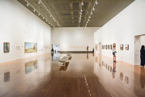 Le musée d'art contemporain de Marugame dans la préfecture de Kagawa sur l'île de Shikoku