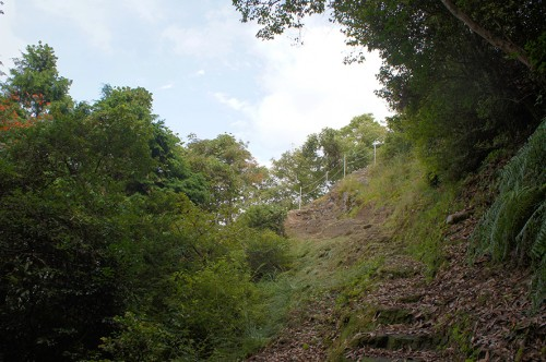 Vue du chemin de randonnée du Mont Fudo, dans la région Rokugo Manzan située dans la péninsule de Kunisaki, Oita, Kyushu