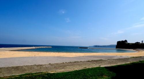 La plage près des rizières de Tashibunoshou à Oita, Kyushu