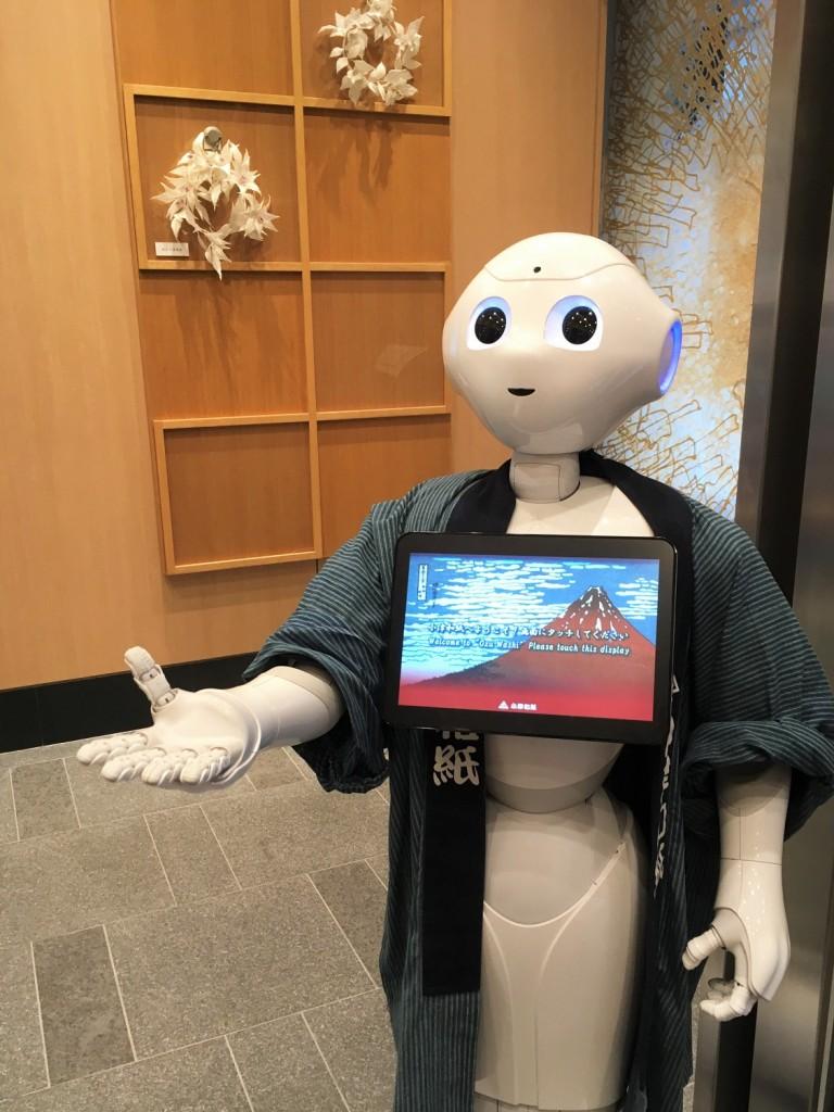un robot vous accueille dans cette papeterie japonaise