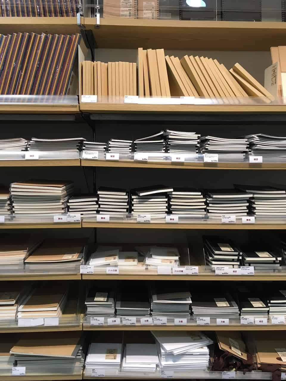 Papeterie au Japon, stationery, Tokyo, papier washi, Muji