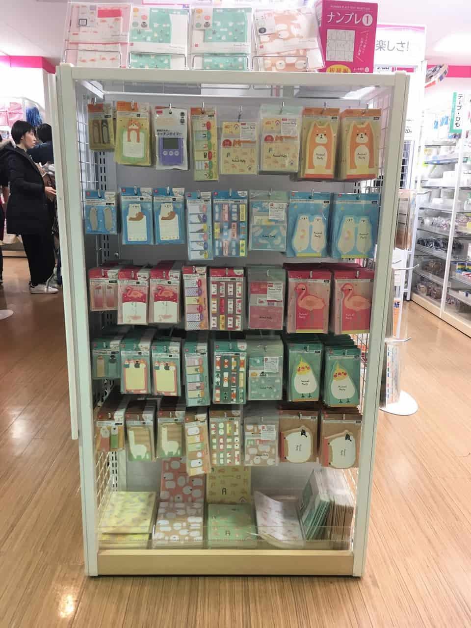 Papeterie au Japon, stationery, Tokyo, papier washi, 100 yen shop