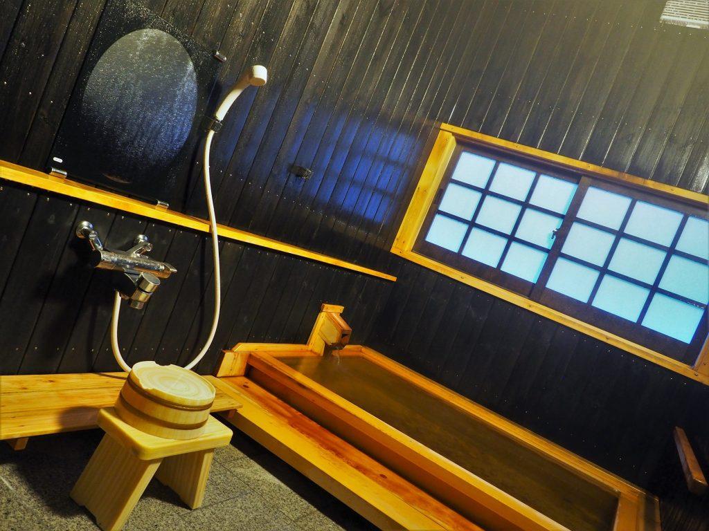 onsen d'un ryuokan dans la préfecture de yuzawa