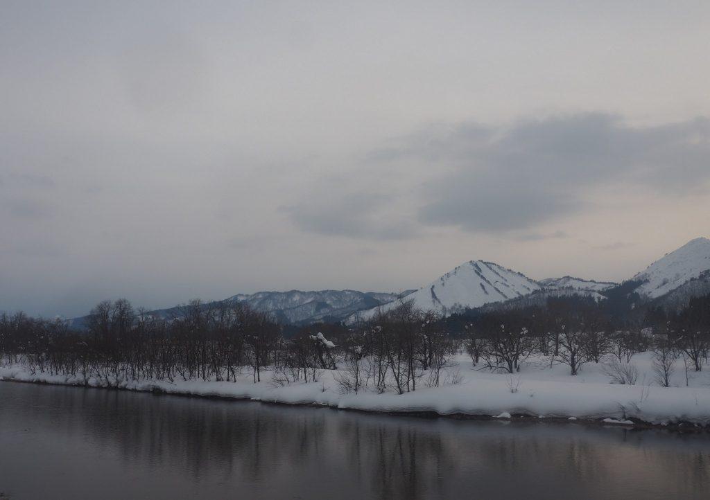 paysages enneigés au Japon dans la préfecture de Yuzawa