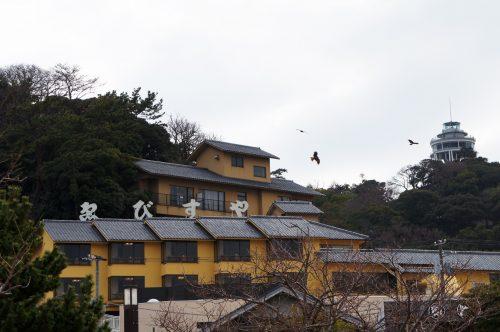 Ryokan Ebisuya, Enoshima, Japon, milans noirs