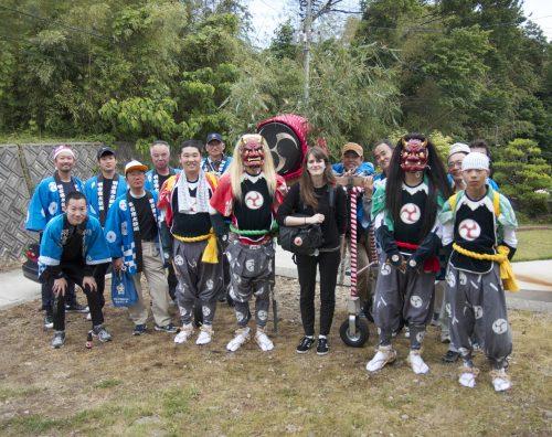 Troupe du festival de Ondeko sur l'île de Sado, Préfecture de Niigata, Japon