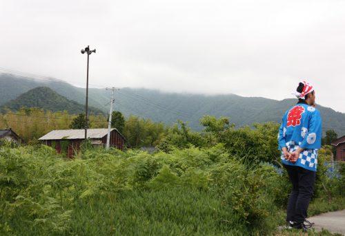 En pleine nature au festival de Ondeko sur l'île de Sado, Préfecture de Niigata, Japon