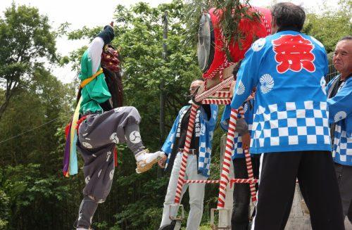 Danse du démon au festival de Ondeko sur l'île de Sado, Préfecture de Niigata, Japon