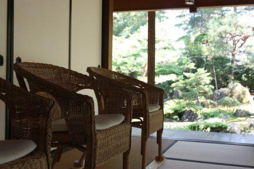 Aperçu du jardin japonais au musée des cultures du Nord à Niigata, Japon