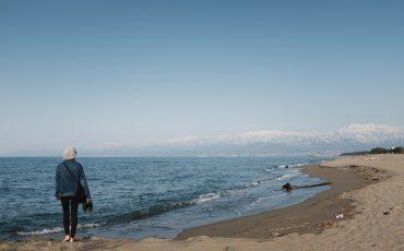La baie de Toyama, d'où l'on peut admirer les montagnes