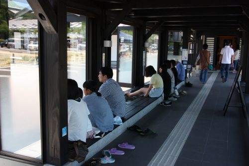 Onsen public à Yahiko aux alentours d'Iwamuro, près de Niigata au Japon