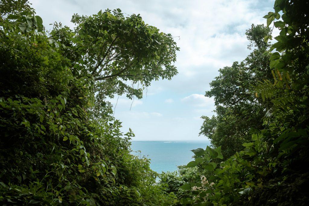 Vue sur la mer à Okinawa