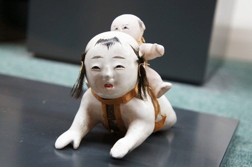 Poupée en papier mâché au Musée du Papier Tosa Washi dans la Préfecture de Kochi, Japon