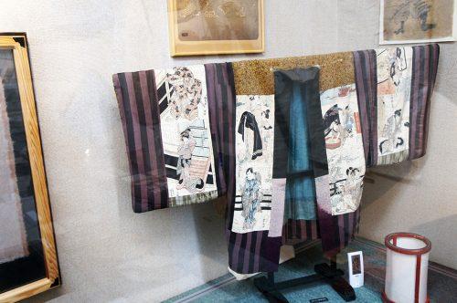 Veste recouverte d'estampe au Musée du Papier Tosa Washi dans la Préfecture de Kochi, Japon