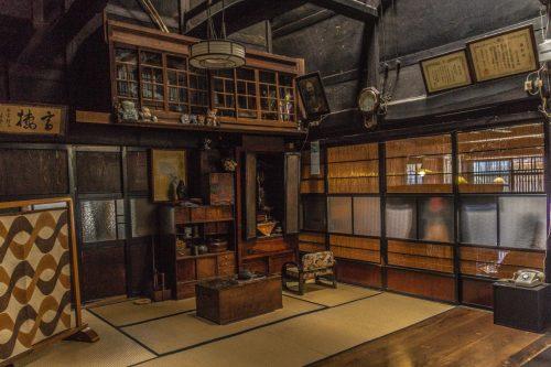 À l'intérieur de l'atelier d'impression sur toile de la ville de Murakami près de Niigata, Japon