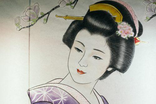 Dessin réalisé pour un edoro au festival de Tanabata à Yuzawa, préfecture d'Akita, Japon