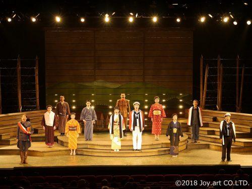 Acteurs sur la scène du théâtre Botchan de la ville de Toon, préfecture d'Ehime, Japon