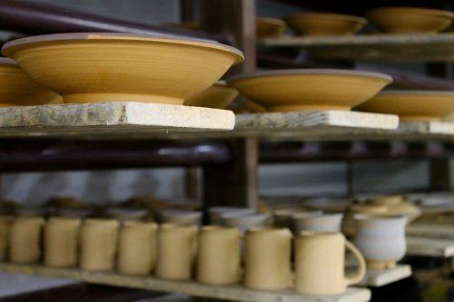 Atelier de potier au village de Onta dans la préfecture d'Oita, Kyushu, Japon