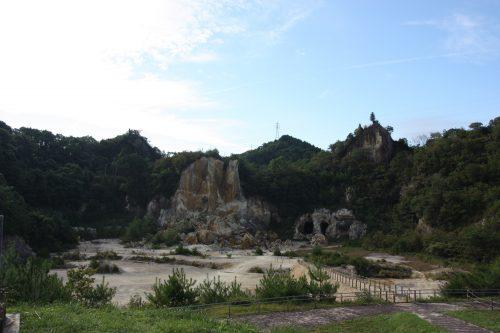 Carrière de kaolin à Arita, préfecture de Saga, Kyushu, Japon