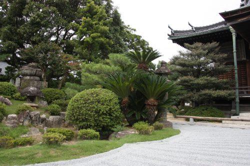 Jardin japonais au Temple Kinshoji à Karatsu, préfecture de Saga, Kyushu, Japon