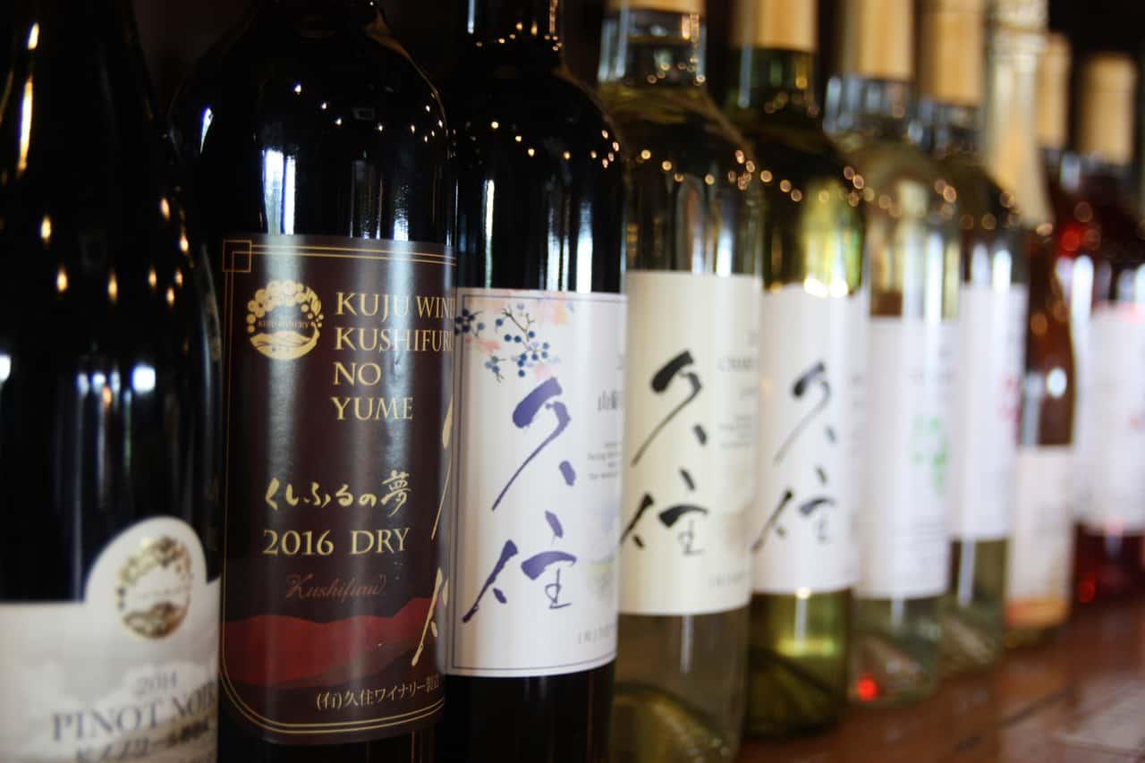 Vin produit à Kuju Winery, préfecture d'Oita, Kyushu, Japon