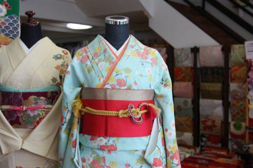 Boutique de location de kimono à Kitsuki, préfecture d'Oita, Kyushu, Japon