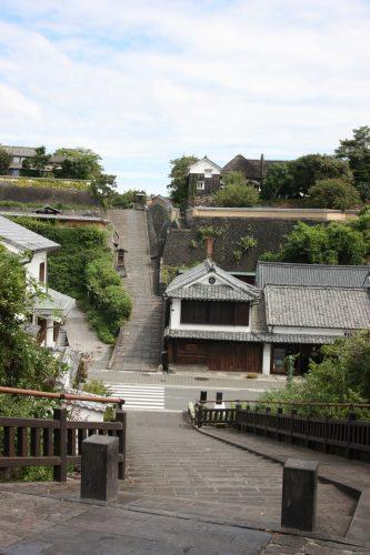 La vue la plus connue de Kitsuki, préfecture d'Oita, Kyushu, Japon