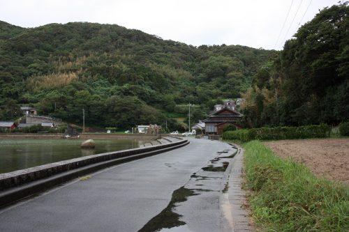 Près de l'église de Dozaki, Îles de Goto, préfecture de Nagasaki, Kyushu, Japon