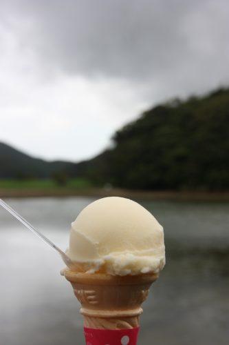 Glace au café Baby Qoo, Îles de Goto, préfecture de Nagasaki, Kyushu, Japon