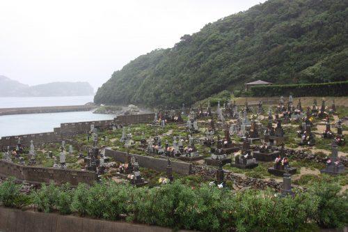 Cimetière de Kashiragashima, Îles de Goto, préfecture de Nagasaki, Kyushu, Japon