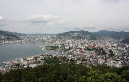 Panorama sur la ville de Nagasaki, préfecture de Nagasaki, Kyushu, Japon