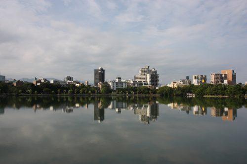 Parc Ohori à Fukuoka, préfecture de Fukuoka, Kyushu, Japon