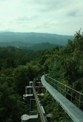 Panorama en descendant du Mt Hiko, préfecture de Fukuoka, Kyushu, Japon