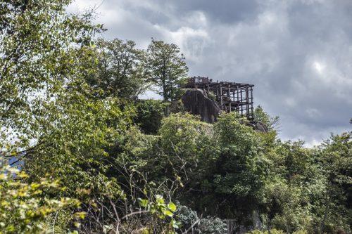Ruines du château de Naegi à Nakatsugawa, préfecture de Gifu, Japon