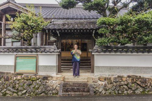 Maître du temple Zensho-ji, préfecture de Gifu, Japon