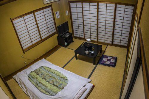 Chambre individuelle à l'auberge Iwasu-so à Nakatsugawa, préfecture de Gifu, Japon