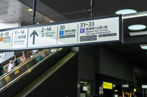 Panneaux en gare de Kyoto pour se rendre à Takahama, Fukui,Japon