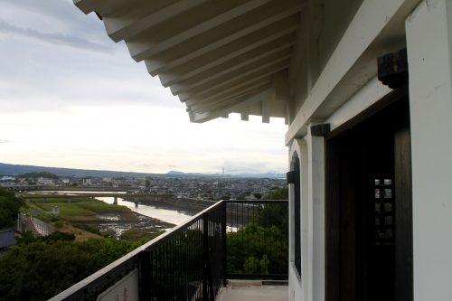 Vue depuis le château de Nakatsu, dans la préfecture d'Oita, Japon
