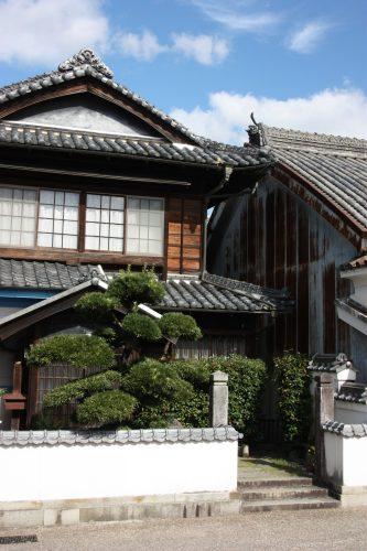 Maison ancienne dans le quartier historique d'Udatsu, Mima, Tokushima, Shikoku, Japon