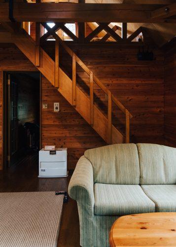 L'un des cottages du Nabekura Kogen Mori no Ie, à Iiyama, préfecture de Nagano, Japon