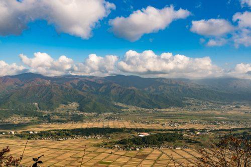 Panorama depuis la randonnée sur le Shin-etsu Trail, Préfecture de Nagano, Japon