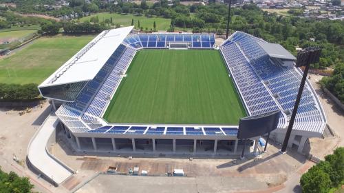 Stade de rugby à Kumagaya, près de Gyoda, préfecture de Saitama, Japon