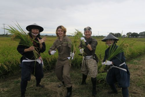 Équipe de Tambo Art à Gyoda, préfecture de Saitama, Japon