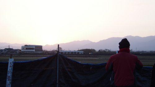 Observer les grues à deux pas de la ferme de M et Mme Ohira, Izumi, Kagoshima, Kyushu, Japon