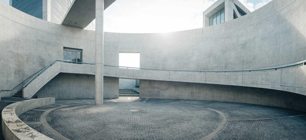 Le musée de la préfecture d'Osaka Sayamaike conçu par Tadao Ando, architecte japonais originaire d'Osaka, Kinki, Japon